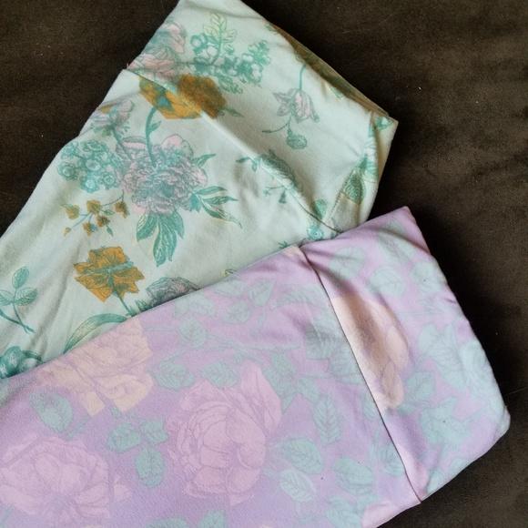 2b684965b0bbcf LuLaRoe Pants | 2 Pairs Lot Pastel Floral Leggings Os | Poshmark